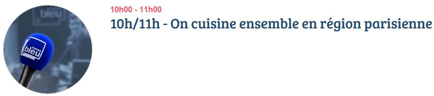 Guillaume thuillet for On cuisine ensemble france bleu