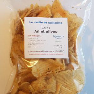 [Le Jardin de Guillaume] Chips ail et olives