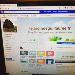 Page Facebook Le Jardin de Guillaume